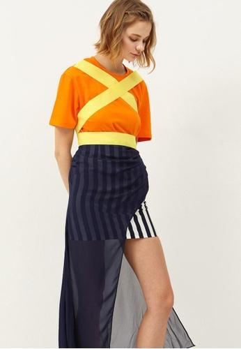 Storets blue Rora Sheer Layered Mini Skirt ST450AA0GIIMSG_1