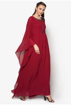 Embellished Kaftan Dress