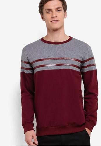 Murzaman red Y & M Sweatshirt MU501AA11NIYMY_1