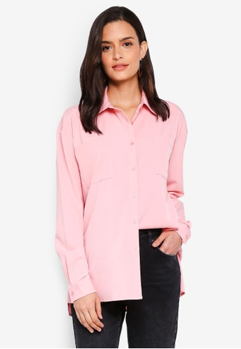 Lubna pink Draped Shirt 05F01AAF698CDBGS_1