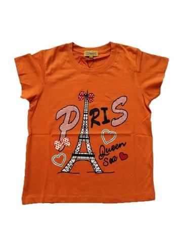 KAMDAR orange Girls Short Sleeve  T/shirt 07466KAAE1865DGS_1