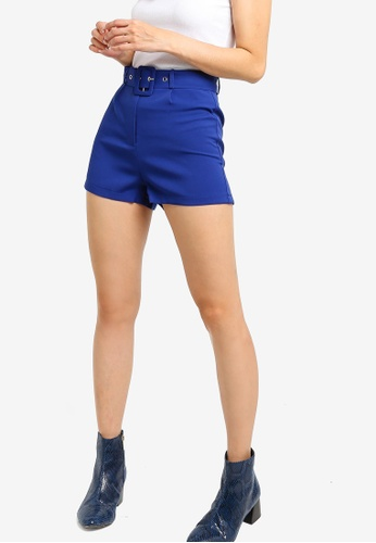 Something Borrowed blue Pop Belted Shorts E60CCAAF3A362AGS_1