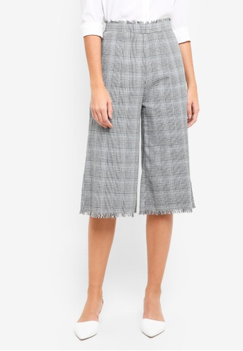 ZALORA grey Checks Culottes C497CAA138D6E8GS_1