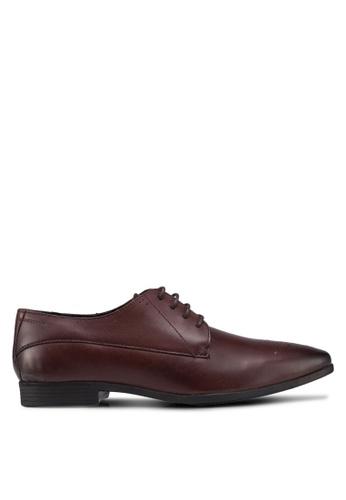 Burton Menswear London brown Brown Leather Derby Shoes 75508SH37B56F3GS_1