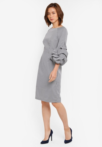 ZALORA black Pull Sleeve Dress 2E203AAD7FF74BGS_1