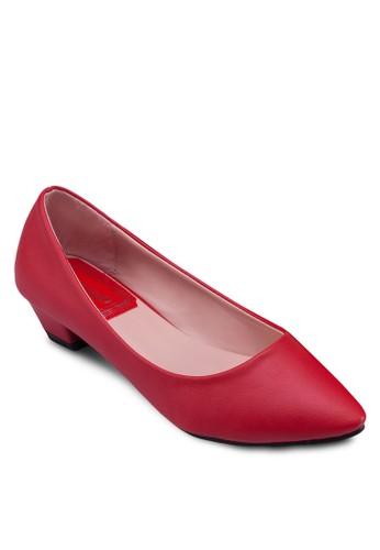 PU 尖頭低跟鞋, 女鞋, zalora taiwan 時尚購物網鞋
