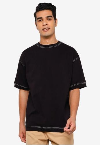 RAGEBLUE black Knit T-Shirt 5F3BBAA1541C09GS_1