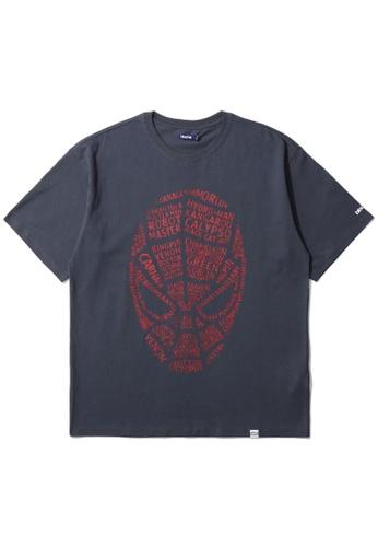 BLOCKAIT navy X Marvel Spider-Man graphic tee C6282AA042BA2CGS_1