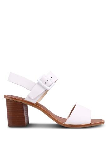 TOPSHOP white Nancy Clean Buckle Sandals DF2A6SHD20E25EGS_1