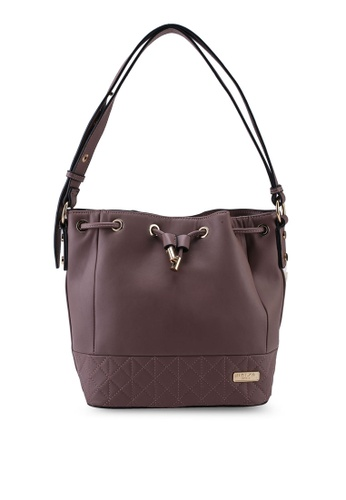 Unisa purple Faux Leather Quilted Bucket Bag 23867ACA415C85GS_1
