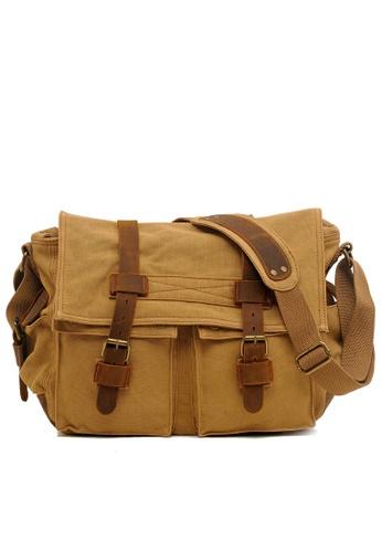 Twenty Eight Shoes Vintage Leather Wax Canvas Messenger Bags2138 75F31ACAFCC842GS_1