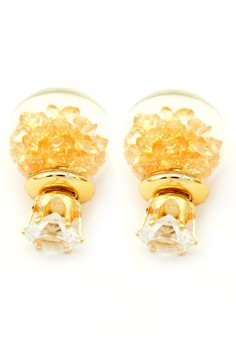 YOUNIQ  YOUNIQ-Basic Korean Korean Peach Wishing Crystal Ball Earring