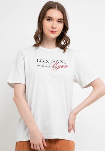 Lois Jeans white Cotton T-Shirt KSC652 25F16AA1C57B56GS_1