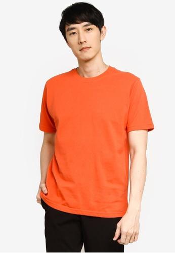 GLOBAL WORK orange Knit T-Shirt C8E63AAD9197D8GS_1