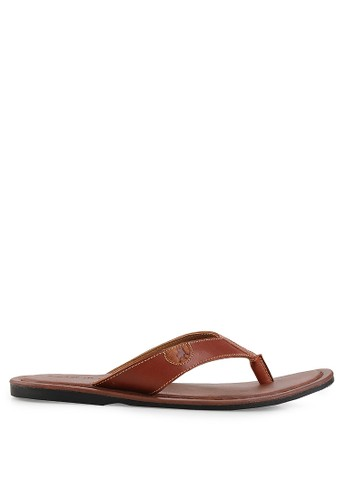 LOIS JEANS brown Leather Sandals LO391SH24LOPID_1