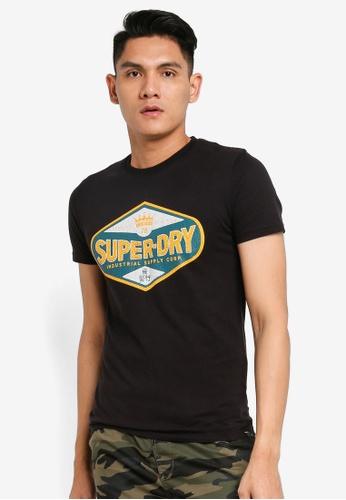 SUPERDRY black Motor Tee 23E2CAAA9AAEAAGS_1
