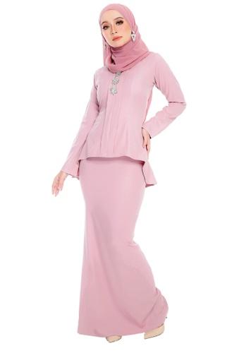 SARIMA pink Kebaya Muslimah Fashion  Soft Pink D82E9AAF679AD7GS_1