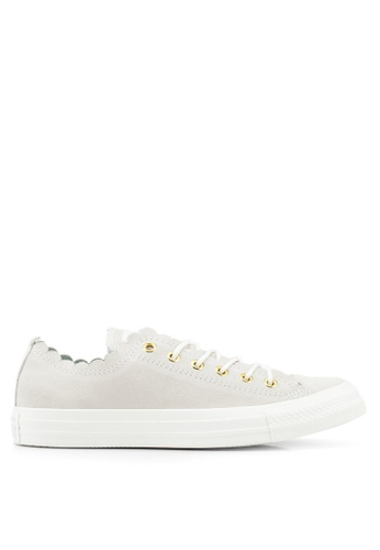 33f813acf2aa7a Converse white Chuck Taylor All Star Frilly Thrills Ox Sneakers  E861ASHA8D785DGS 1