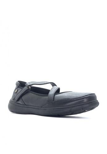Hush Puppies black Womens Casual Shoes Loren V Strap II 84524SHBC7A927GS_1