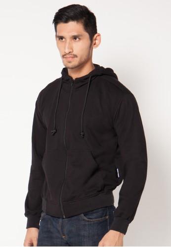 Crows Denim - Men'S Hooded Black Jacket