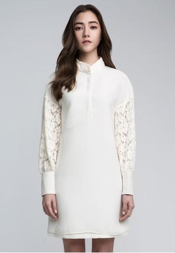 繡花拼接洋esprit hk store裝, 服飾, 短洋裝