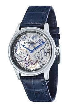 Thomas Earnshaw Bauer Es-8049-06 Men's Genuine Leather Strap Watch