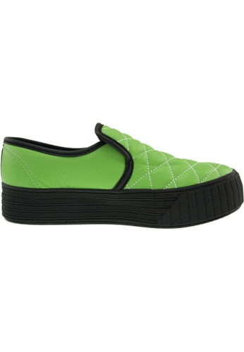 Maxstar green Maxstar Women's C30 Stitched PU Platform Slip On Shoes US Women Size MA164SH91FMISG_1