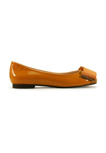 Gripz yellow Book Round Toe Flats GR357SH11IQUSG_1