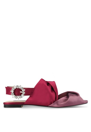 ZALORA red Satin Slingback Sandals 305D2SH5938366GS_1