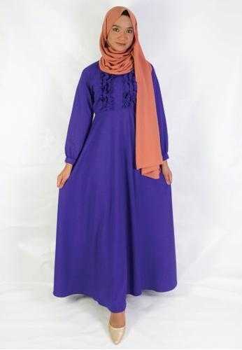 Zaryluq purple Ruffle Dress in Persian Indigo 32A7DAA9987F1EGS_1