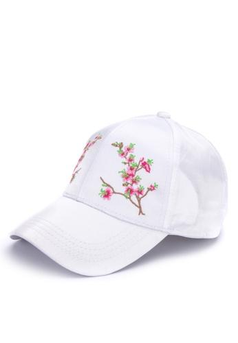 1a8122f23d5 Shop Kimberley Floral Satin Baseball Cap Online on ZALORA Philippines