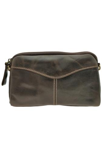 LUXORA black The Ninja Co. Top Grain Leather Sling Bag Wallet Shoulder Messenger Handbag Travel Accessory Gift 5A70AAC39518AEGS_1