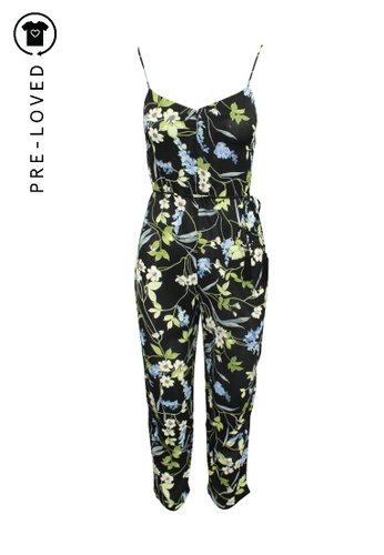 Reformation multi Pre-Loved reformation Floral Print Jumpsuit with Spaghetti Shoulder Straps DA8A6AAB447CD9GS_1