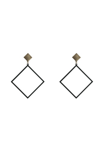 ALDO 黑色 幾何造型圓圈耳環 508D4AC85B47BCGS_1
