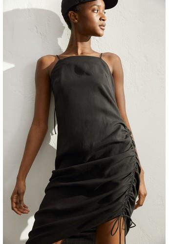 H&M black Lyocell-blend slip dress BC56BAA7C42EA4GS_1