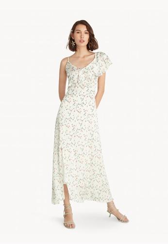 59b6e17ee9 Pomelo white Maxi Ruffled Asymmetric Dress - White 476FAAA664BB81GS_1