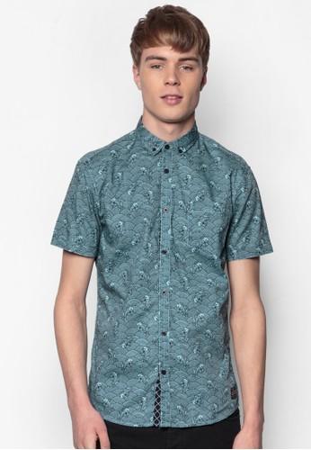 Berron 和esprit part time風印花短袖襯衫, 服飾, 印花襯衫