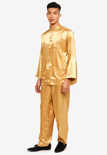 Gene Martino brown and yellow Traditional Baju Melayu 1504BAAAFAE2C2GS_1