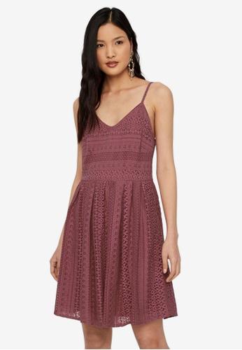 Vero Moda purple Honey Lace Pleated Singlet Dress 7CA31AA79111B3GS_1