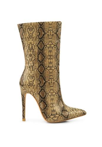 London Rag brown Snake Print Stiletto Boots B9EDBSHCCF77ADGS_1
