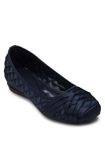 zalora時尚購物網的koumi koumi軟襯方頭平底鞋, 女鞋, 鞋