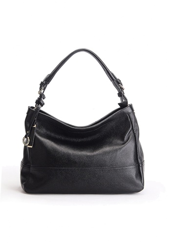 Twenty Eight Shoes black VANSA Pebbled Top Layer Cowhide Tote Bag VBW-HB6024 C563FAC940F748GS_1