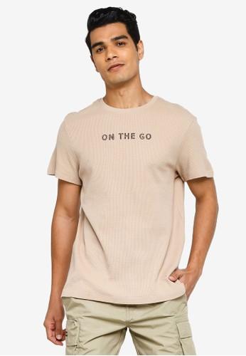 KOTON beige On The Go T-Shirt DFFA7AA1EAE4F7GS_1