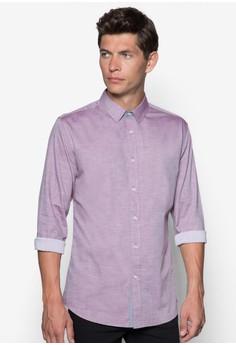 Solid Colour Poplin Long Sleeve Shirt