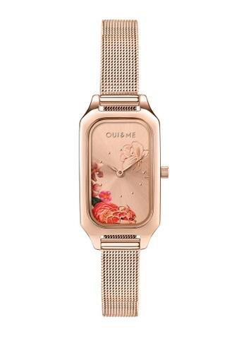 Oui & Me gold Finette Quartz Watch Rose Gold Metal Band Strap ME010123 B5F05AC603AA75GS_1