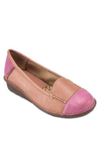 Fiona 雙色皮革平底鞋, 韓系時尚esprit 兼職, 梳妝