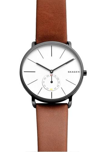 Skagen brown Skagen Hagen Leather Watch SKW6216 SK533AC89NOSMY_1