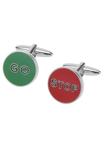 CUFF IT red and green STOP and GO Traffic Light Cufflinks CU047AC74VPDHK_1