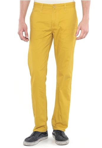 POLO HAUS yellow Polo Haus - Straight Cut Long Pant (Yellow) PO783AA54FTHMY_1