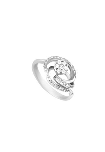 TOMEI white TOMEI Sublimity in Floriated Grandeur Ring, Diamond White Gold 375 (R2376) 4FD32AC4004F02GS_1